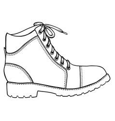 Shoe sketch icon vector