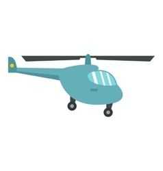 Small helicopter icon flat style vector image