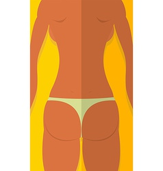 Spin tanned girls woman is lying on beach summer vector