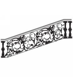 Stair railing vector