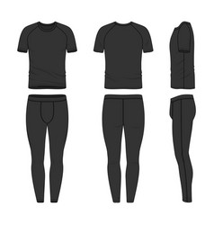 templates of t-shirt and jogging pants vector image