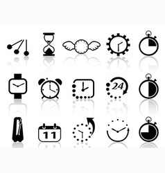 time concept icons set vector image vector image