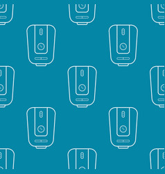 Water heater seamless pattern vector