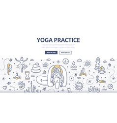 Yoga Doodle Concept vector image vector image