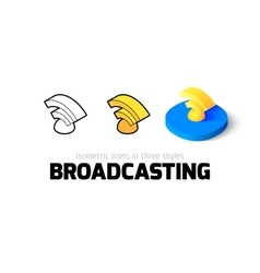 Broadcasting icon in different style vector