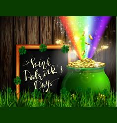 st patrick s day symbol green pot vector image