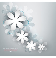 Congratulatory background with flowers vector