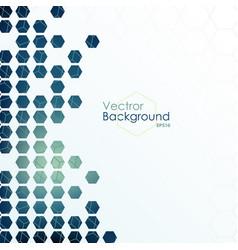 hexagon designed background vector image