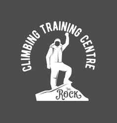 mountain climbing vintage logos vector image