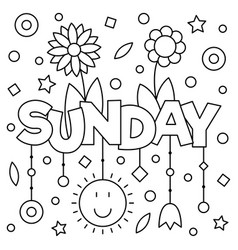 Coloring page vector