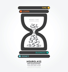 Infographics hourglass design diagram vector