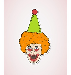 Head of the clown vector