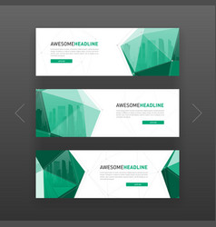 3d lowpoly solid corporate web banner template vector