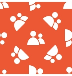 Orange contacts pattern vector