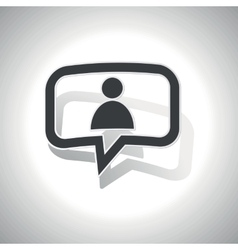 Curved user message icon vector
