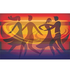 Two dancing couples vector