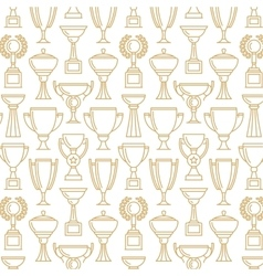 Winner cup seamless pattern vector