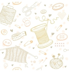 Seamless pattern needlework vector
