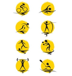 Set - summer sports vector