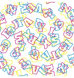 Seamless alphabet pattern vector