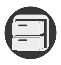 Desk object icon vector