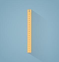 Ruler flat vector