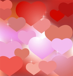 Abstract valentine background with hearts vector image vector image