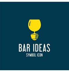 Bar ideas concept symbol icon or logo template vector