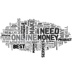 Best way to make money online what it takes text vector
