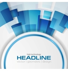 Blue shiny hi-tech background layout vector