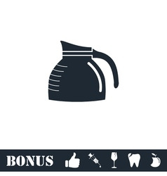 Coffee maker icon flat vector image vector image