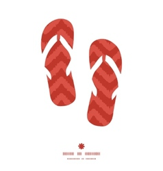 Colorful ikat chevron flip flops silhouettes vector