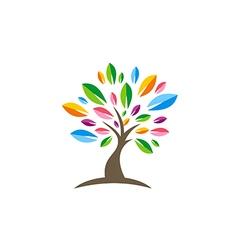 Colorful tree decorative beauty logo vector
