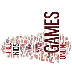 free games text background word cloud concept vector image