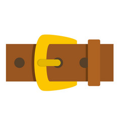 Gold buckle icon isolated vector