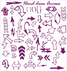 hand draw arrows vector image