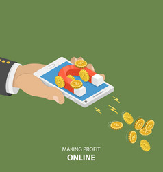making money online flat isometric concept vector image