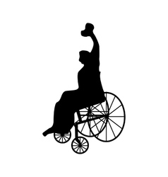 Man or woman in wheelchair silhouette vector image vector image