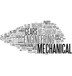 Mechanical word cloud concept vector