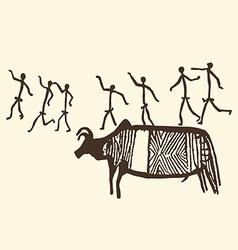 Prehistoric art vector