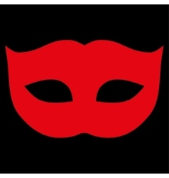 Privacy Mask flat red color icon vector image vector image