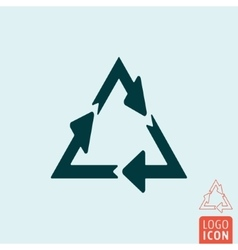 Recycle icon isolated vector image vector image