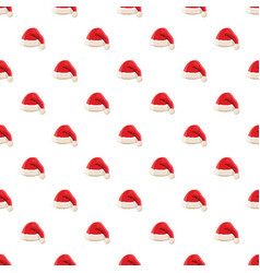 red santa claus hat pattern vector image vector image