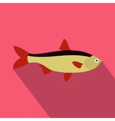 Salmon fish icon flat style vector image