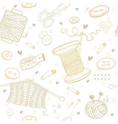 Seamless pattern needlework vector