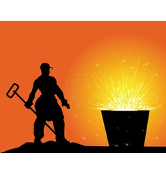 Steel maker vector