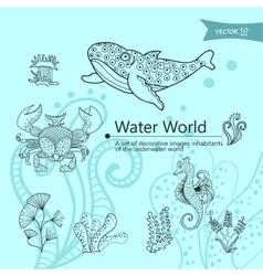 Water wordls vector