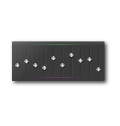 Graphic equalizer with a set of sliders vector image