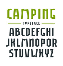 Narrow sanserif bulk font with rounded corners vector