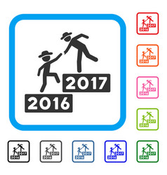 2017 business training steps framed icon vector image vector image